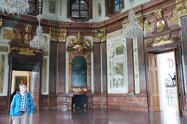 One of the magnificent rooms of the Belvedere