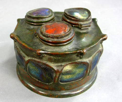 Tiffany Studios turtleback inkwell, Nadeau's Auction,  October, 30, 2010
