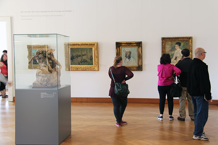 That's a Renoir on the right and a Monet next to it