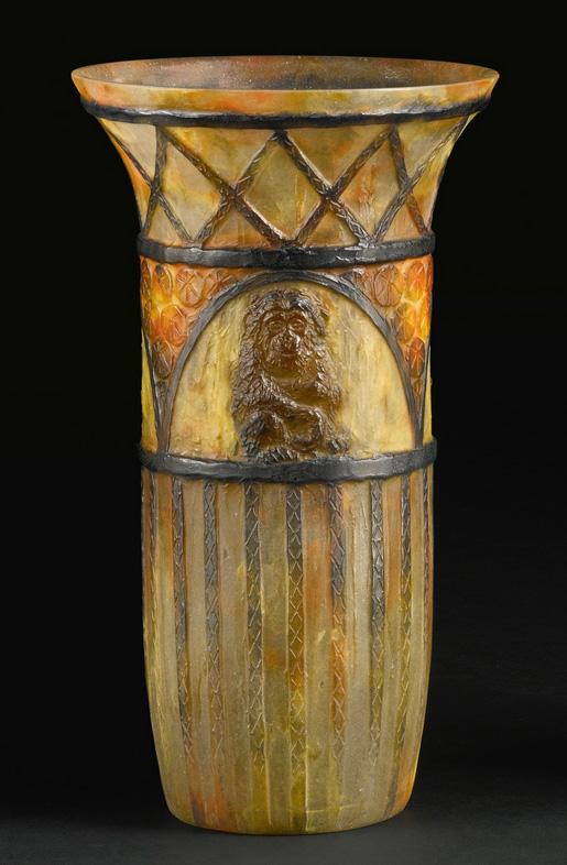 Rare Argy-Rousseau Monkey vase, Sotheby's lot #76