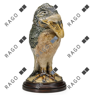 Martin Bros. bird tobacco jar, Rago lot #156