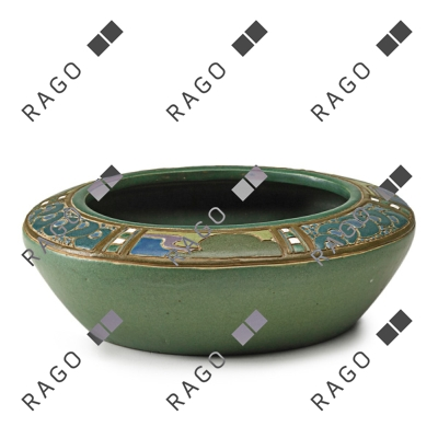 Frederick Rhead decorated bowl, Rago lot #105