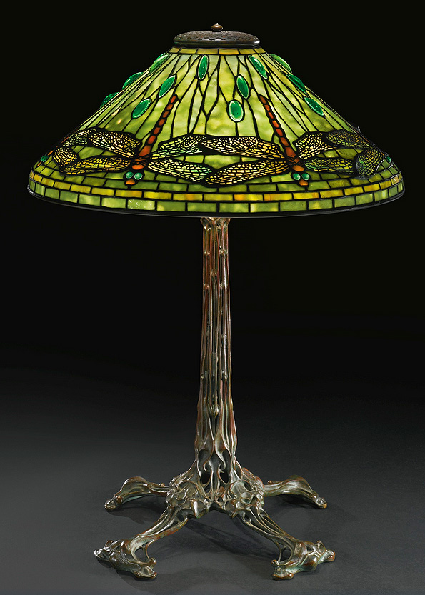 "Tiffany Studios 20"" Dragonfly table lamp, Sotheby's lot #22"