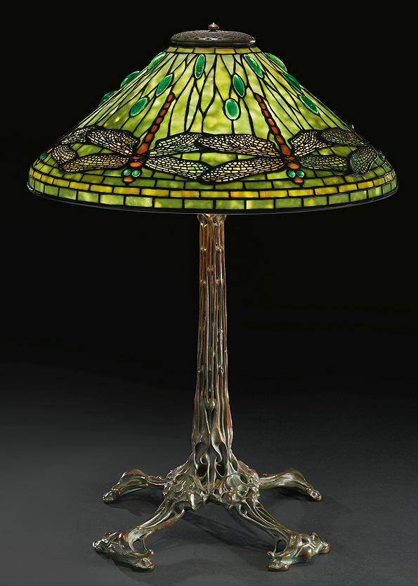 "Tiffany Studios 20"" Dragonfly table lamp, Sotheby's lot #22"