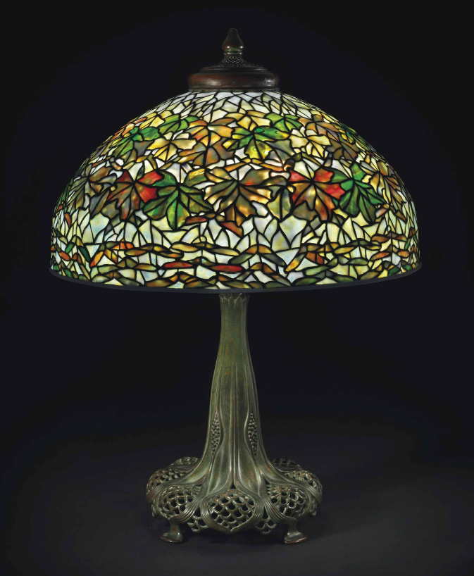 Tiffany Studios Maple Leaf table lamp, Christie's lot #6