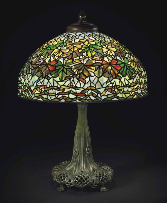 Tiffany Studios Maple Leaf table lamp, Christie's lot #6