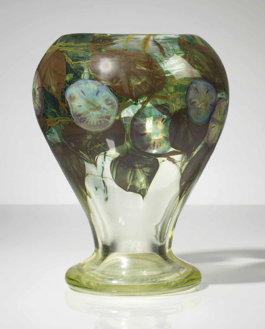 Fine Tiffany Favrile paperweight vase, Christie's lot #101