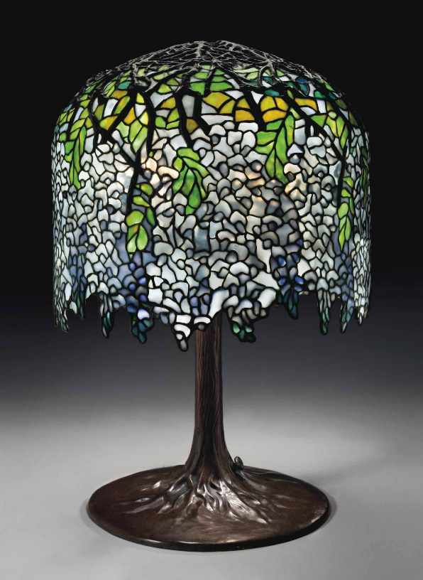 Tiffany Studios Wisteria table lamp, Christie's lot #121