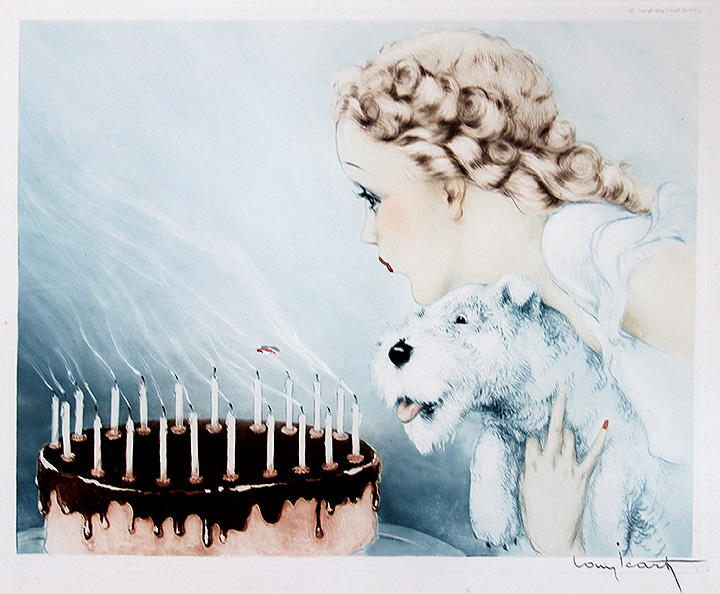 We'll have this very rare Louis Icart etching Happy Birthday at the show