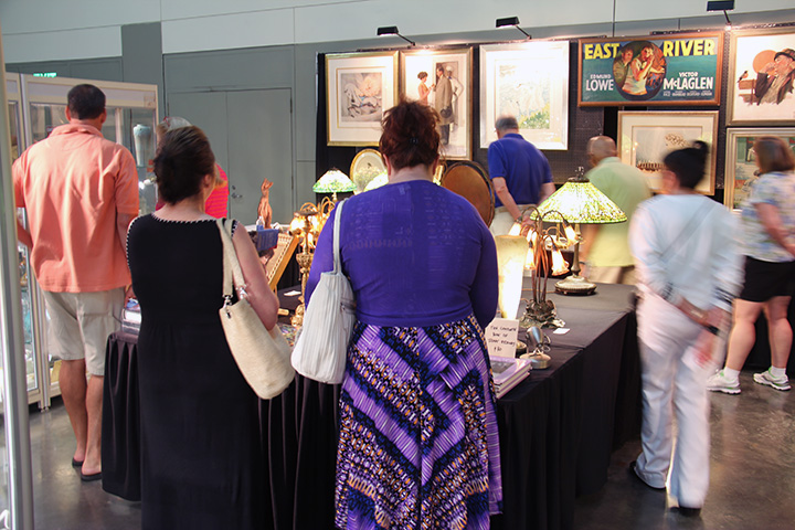 My booth was crowded on Saturday afternoon