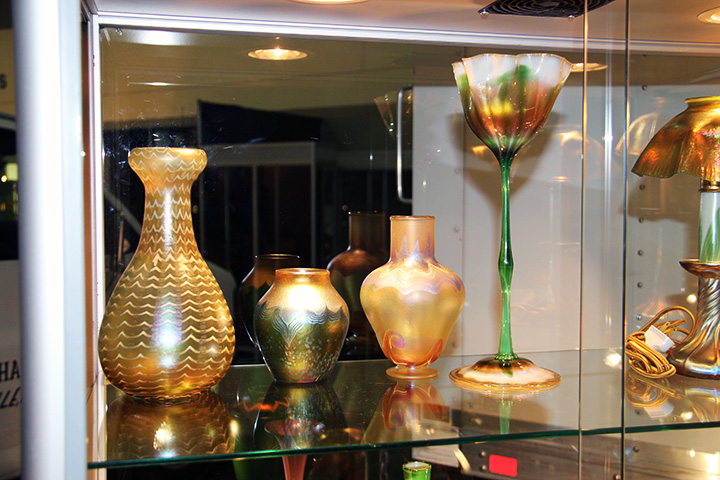 Another four Tiffany vases, fresh from a private collection, just in for the show