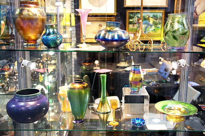 Several of these wonderful Tiffany Favrile vases were sold at the show
