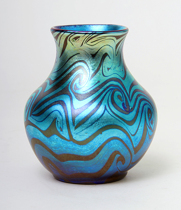 Another of the four great Tiffany Favrile vases that we'll have at the show