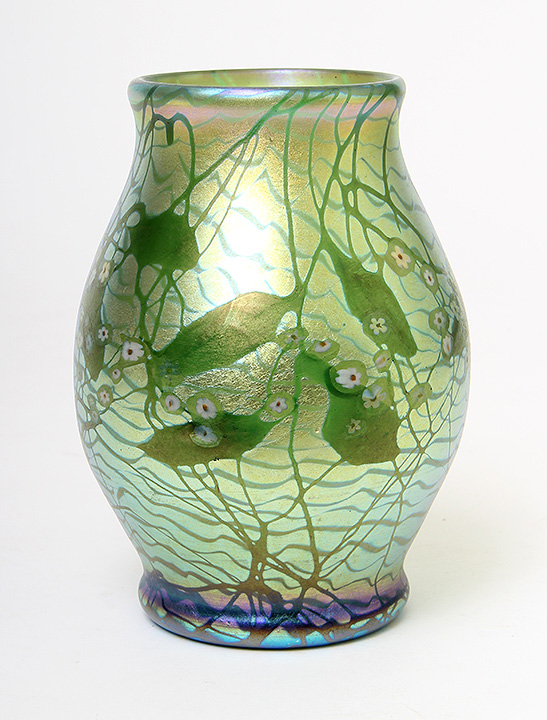 Another of the four fantastic Tiffany Favrile vases from a private collection