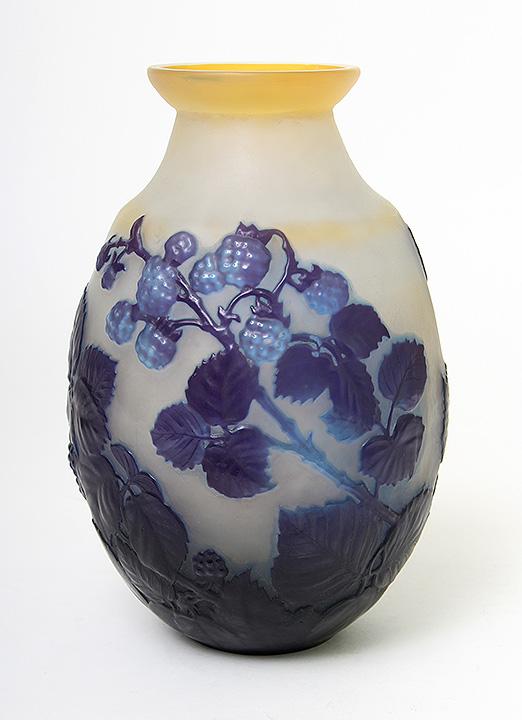 """Galle 9¼"""" berry blownout vase"""