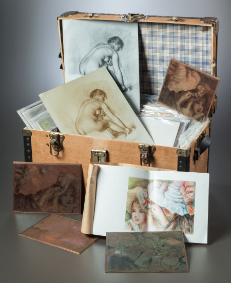 Lot of 56 original Renoir copper plates, Heritage lot #89109