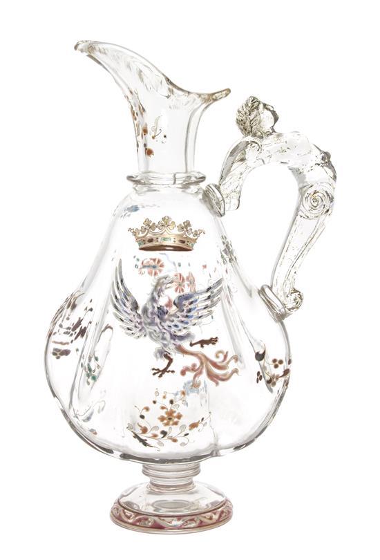 Gallé Crystallerie ewer, Hindman lot #1