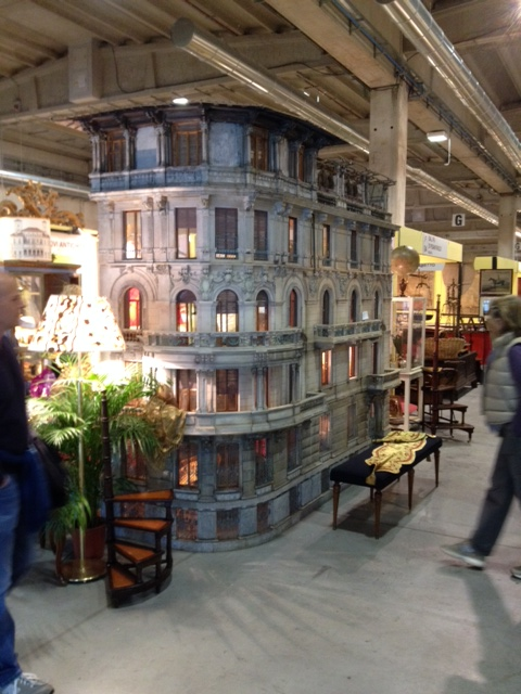 An amazing 8' tall building model, sold at the show