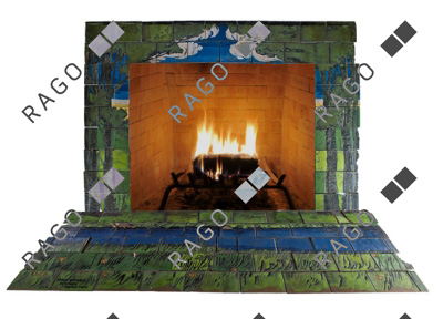 SEG fireplace surround, Rago lot #10