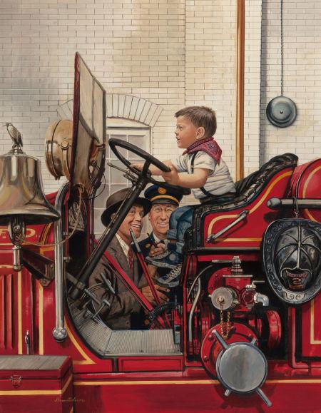Stevan Dohanos, The Future Fireman, Heritage lot #78014
