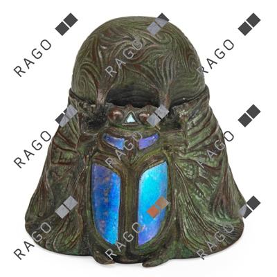 Rare Tiffany scarab inkwell, Rago lot #383