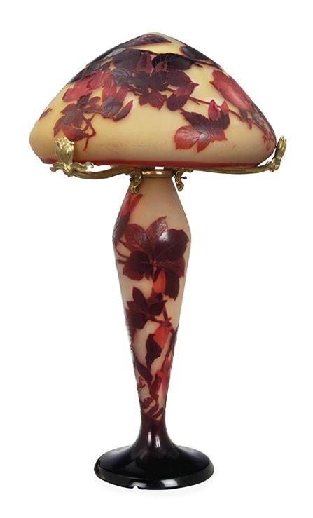 Gallé Magnolia table lamp, Christie's lot #252