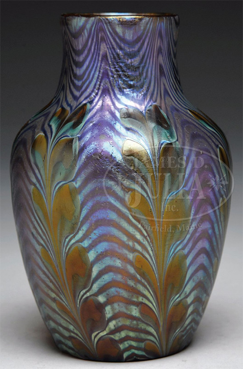 Rare Loetz Phanomen vase, Julia lot #1212