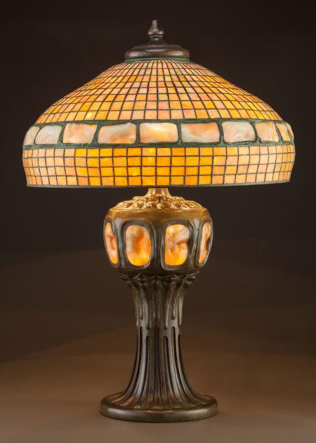 "Tiffany Studios 22"" Belted Turtleback table lamp, Heritage lot #89039"