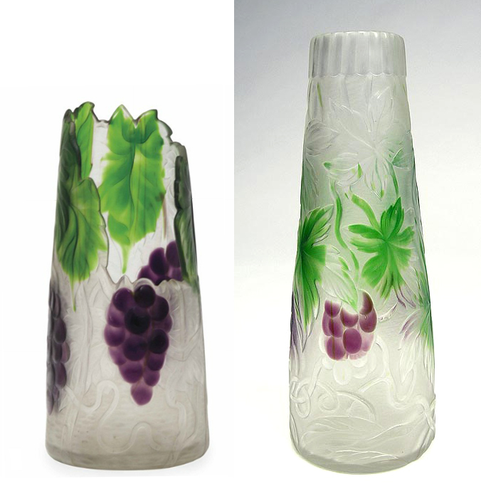 Christie's lot #254 is on the left.  A complete vase is on the right.