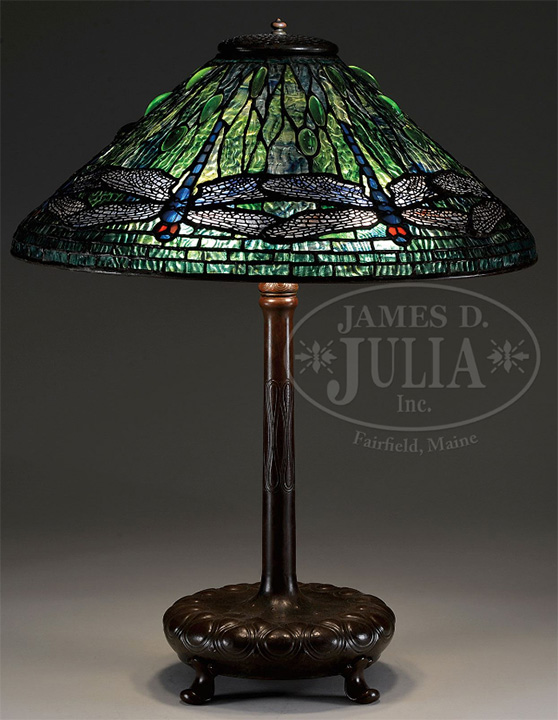 Tiffany Studios 20 inch Dragonfly lamp, Julia's lot #2350