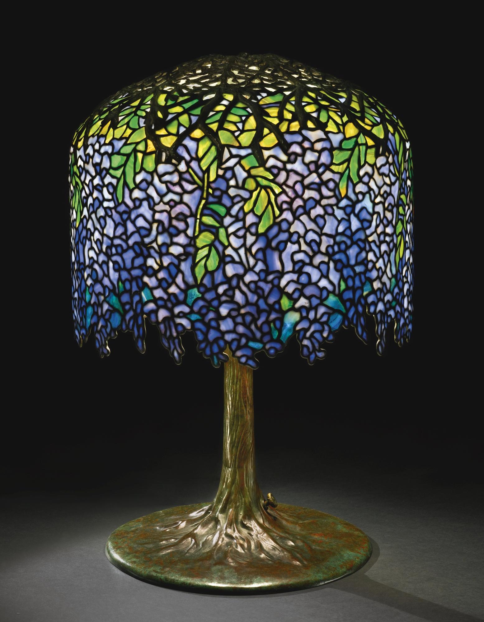 Tiffany Studios Wisteria table lamp, Sotheby's lot #330