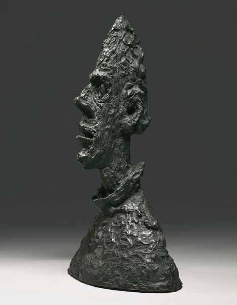 Giacometti bronze Grande Tête Mince (Grand Tête de Diego), Sotheby's lot #15