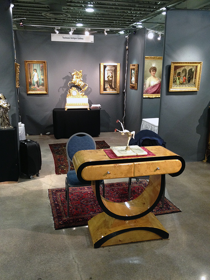 Toulouse Antiques has a beautiful display