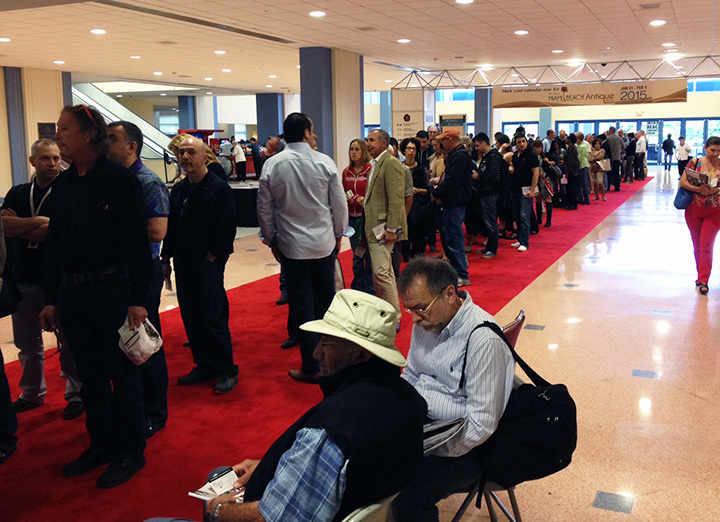There was a good crowd on line at the opening on Thursday