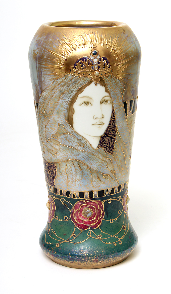 We'll have this wonderful Amphora portrait vase at the show