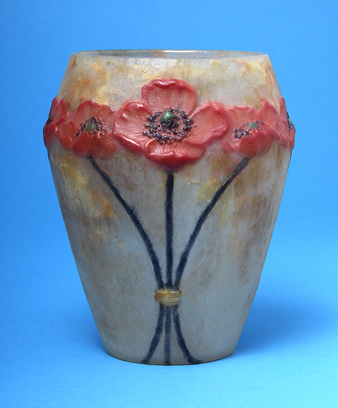 This great Argy-Rousseau Poppy vase is a recent purchase