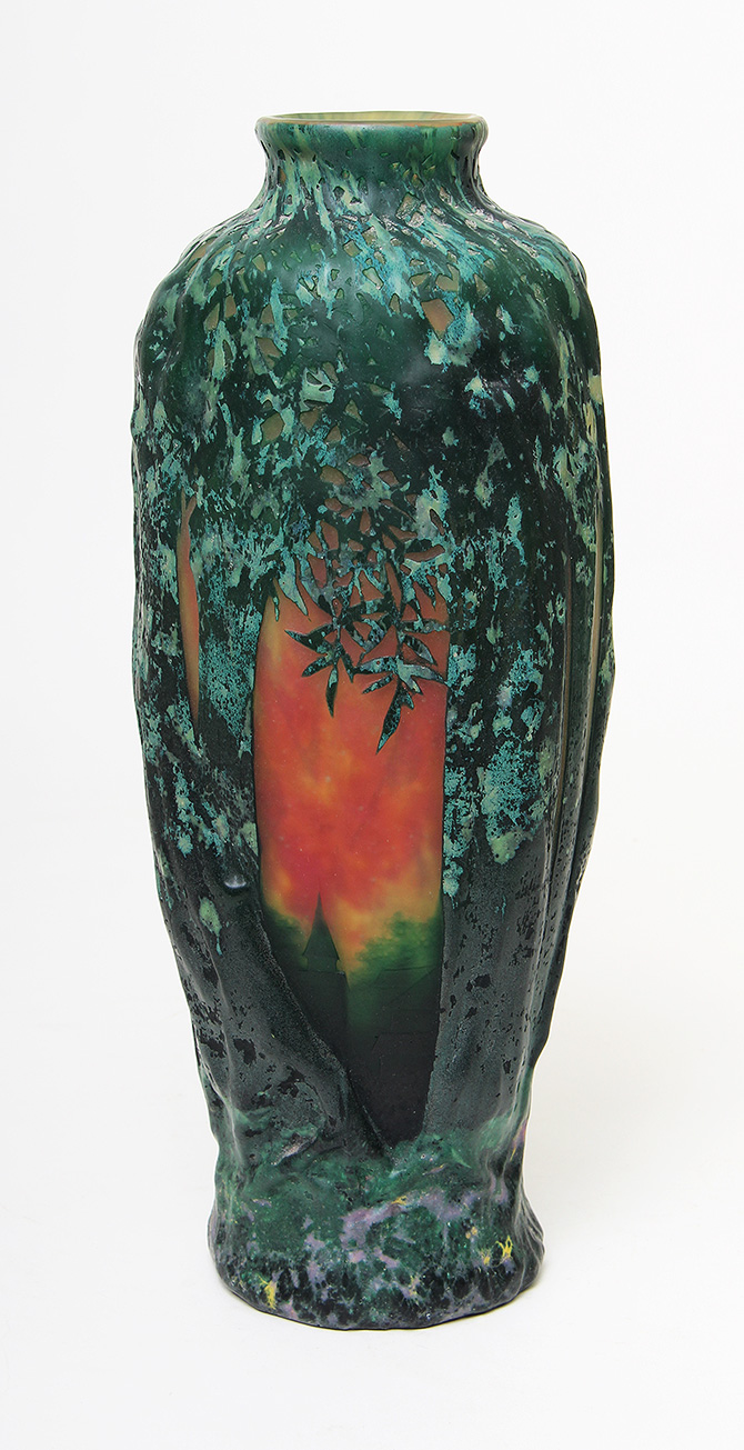 We'll have this great Daum scenic blownout vase at the Palm Beach show