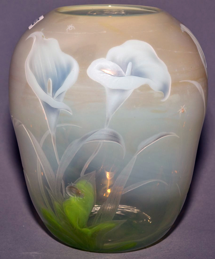 Fantastic Tiffany Favrile vase, Woody's lot #383