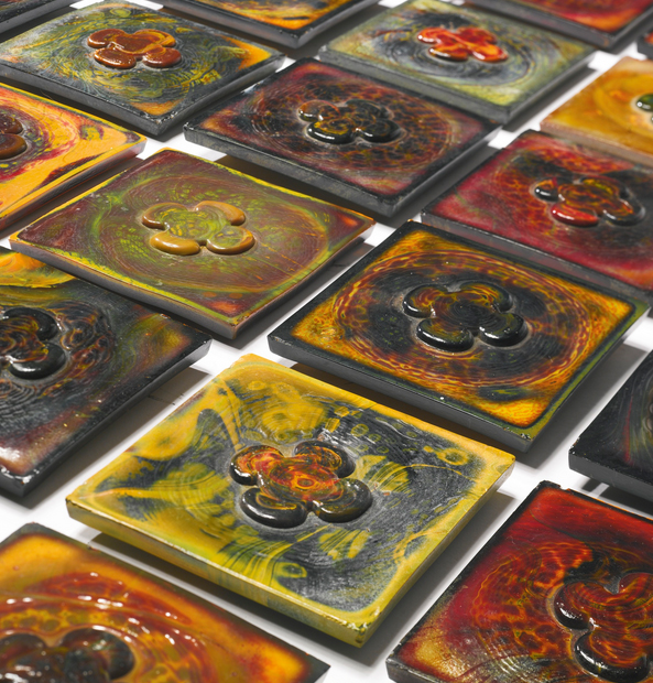 47 Tiffany Favrile tiles, Sotheby's lot #8