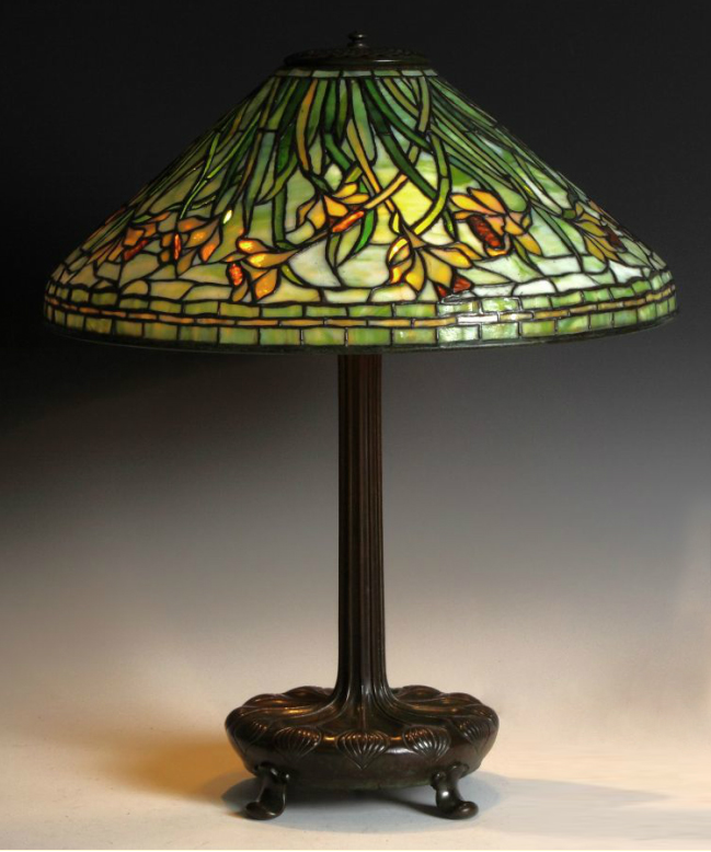 "Fine Tiffany Studios 20"" Daffodil table lamp, Cottone lot #248"