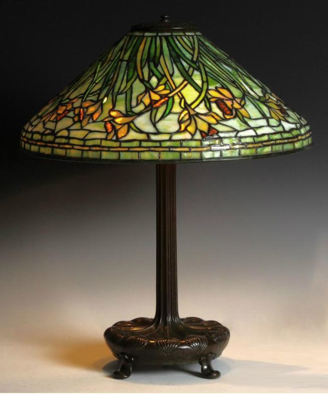 "Fine Tiffany Studios 20"" Daffodil table lamp, Cottone lot #248"