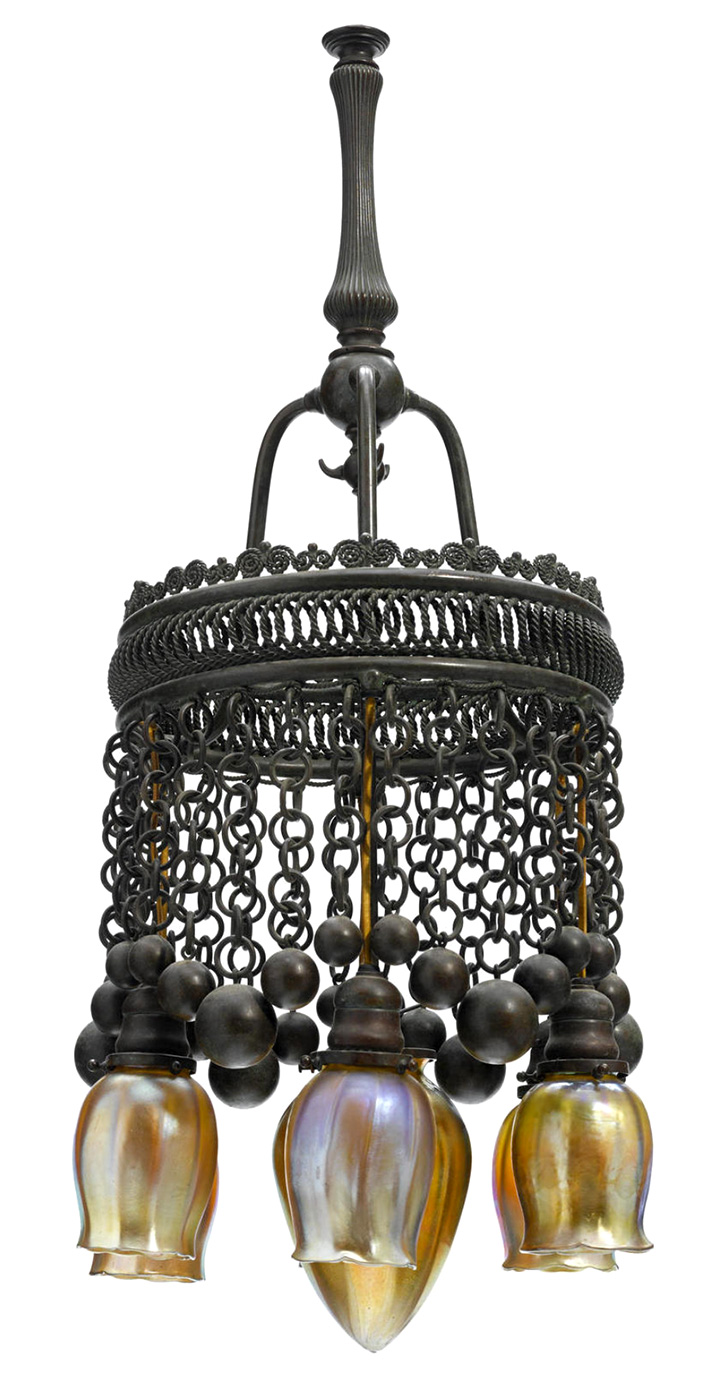 A Tiffany Studios Moorish chandelier, Bonham's lot #2237