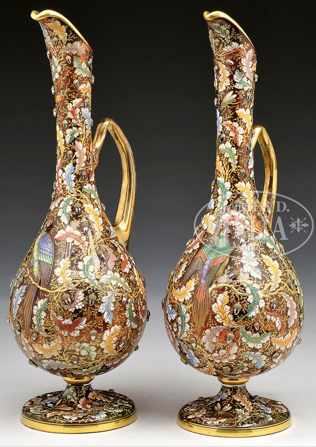 Pair of Moser ewers, Julia's lot #1035