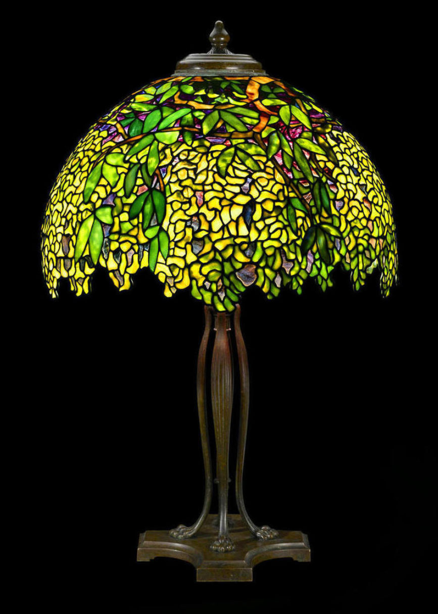 Tiffany Studios Laburnum table lamp, Bonham's lot #70