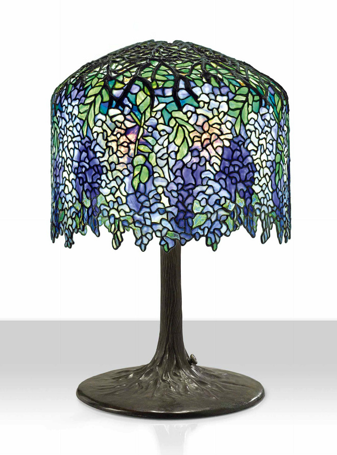 Tiffany Studios Wisteria lamp, Christie's lot #15