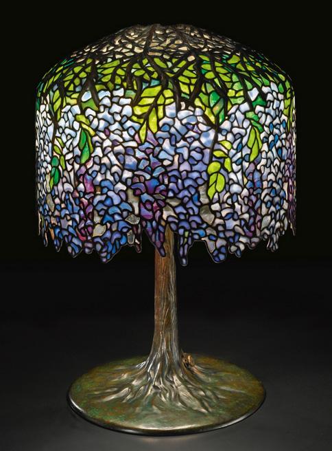 Tiffany Studios Wisteria table lamp, Sotheby's lot #44