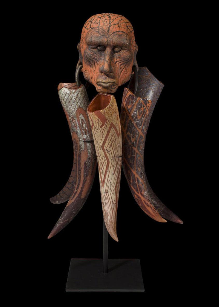2001 William Morris sculpture Laibon Man, Bonham's lot #227
