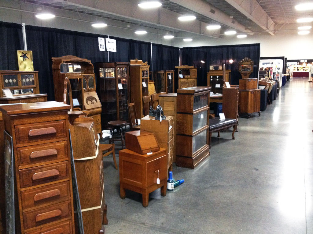 One of the fine furniture dealers at the show