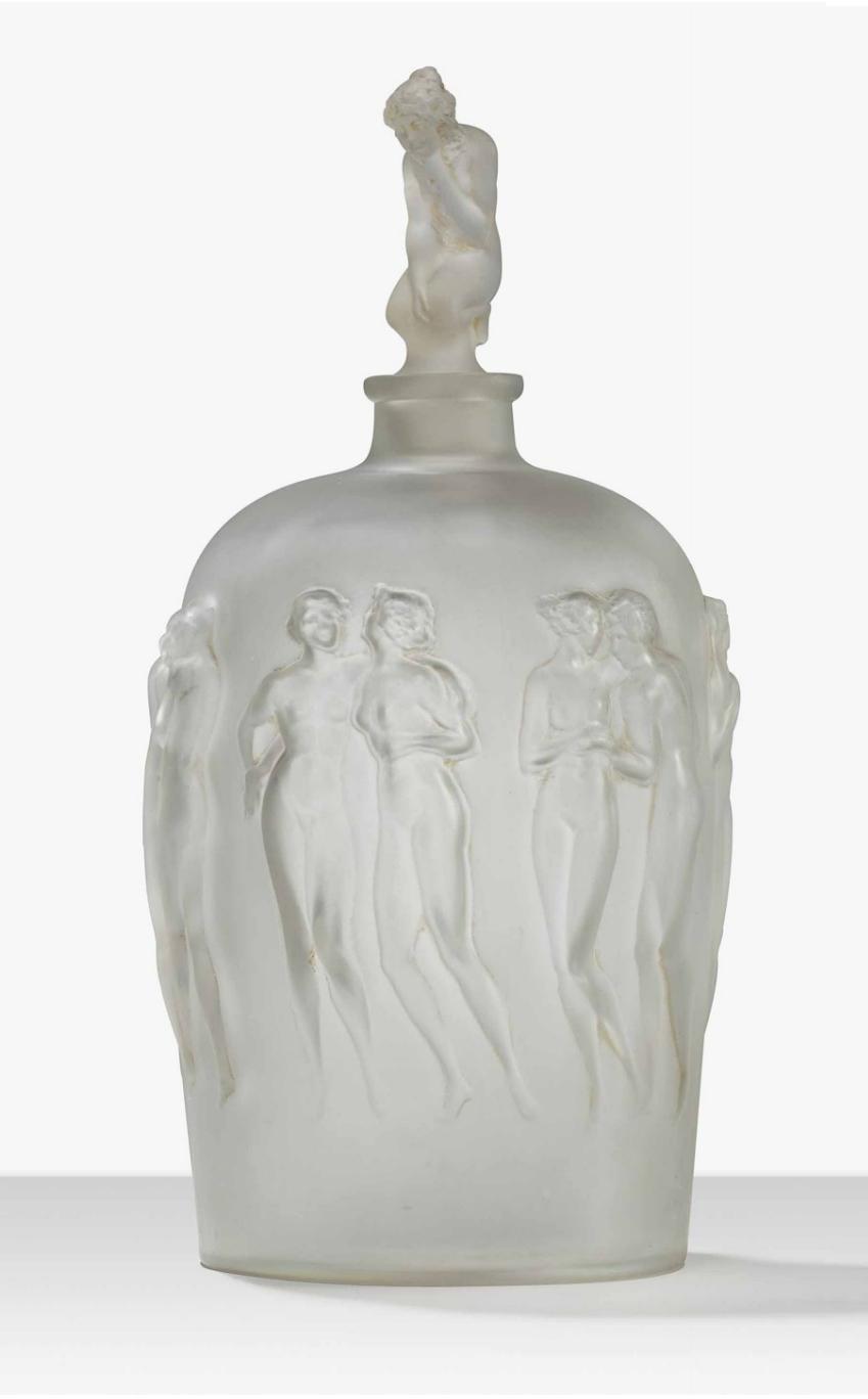 This rare R. Lalique Douze Figurines bottle just arrived
