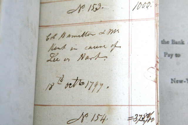 The oldest known American checkbook was issued by the Bank of New York in the 1790s and includes a payment to Alexander Hamilton!